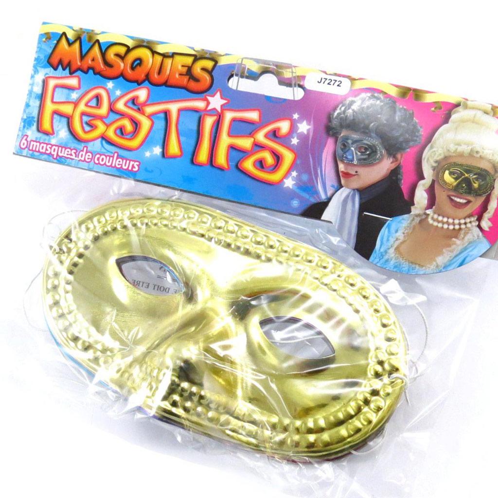 Set de 6 \'Masques Festifs\' multicolore - [J7272]
