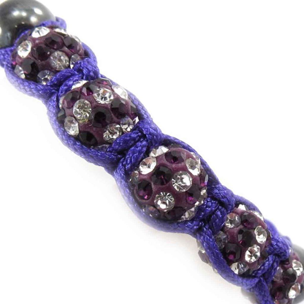Bracelet ethnique \'Shambhala\' violet - [J8738]