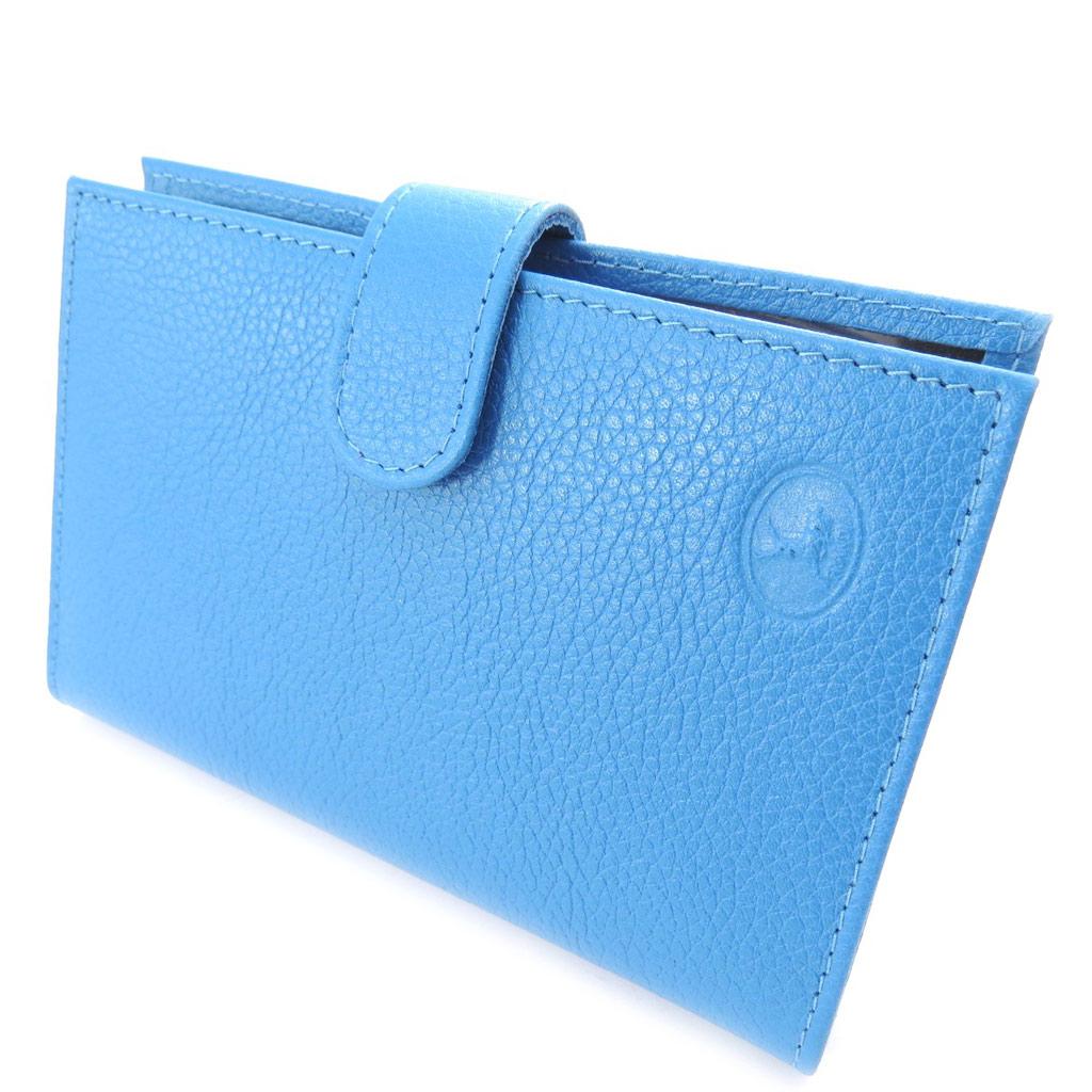Porte Papiers de voiture Cuir \'Frandi\' bleu grainé (ultra plat) - [K0377]