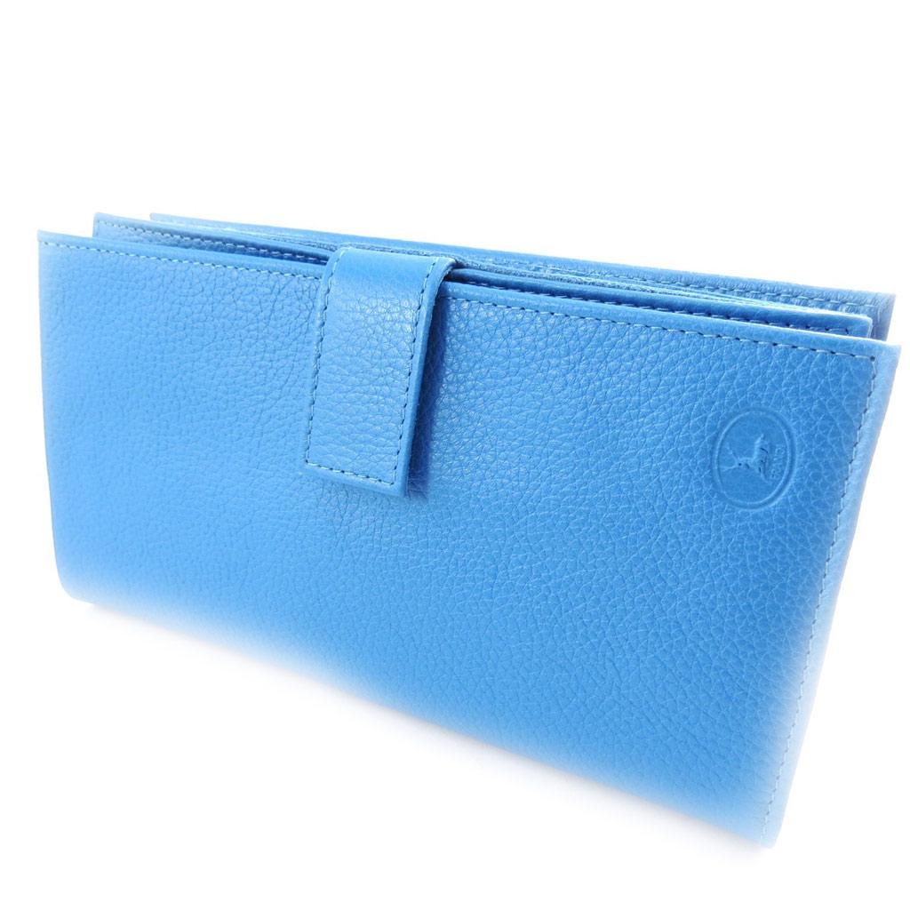 Compagnon Cuir \'Frandi\' bleu grainé - [K0397]