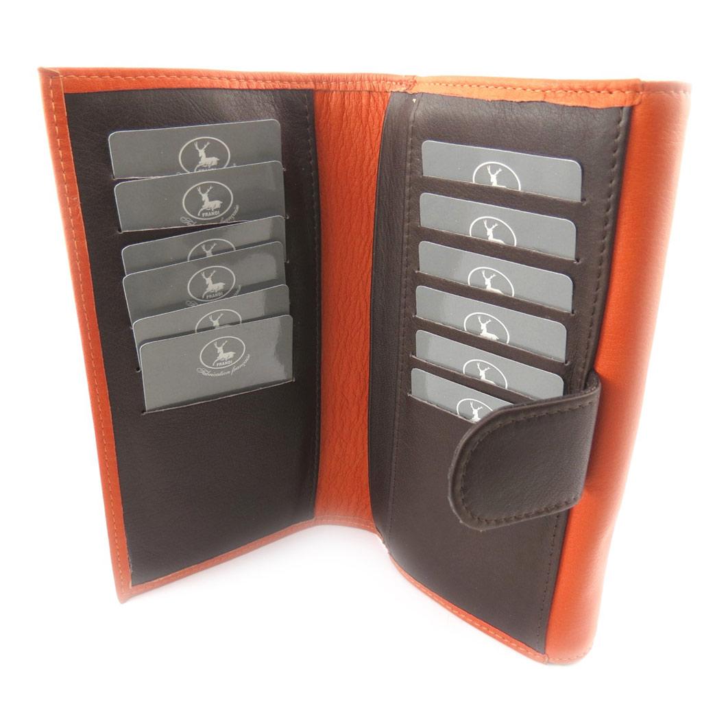 Compagnon Cuir \'Frandi\' orange marron - [K0472]