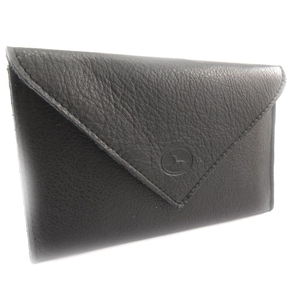 Porte Papiers de voiture Cuir \'Frandi\' noir (ultra plat) - [K0560]