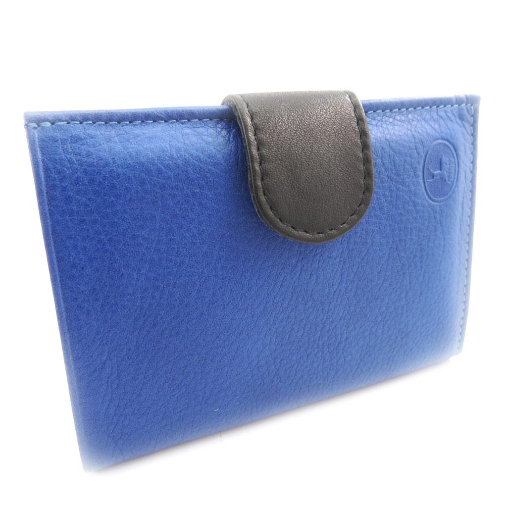 Portefeuille Cuir \'Frandi\' bleu noir (européen) - [K0582]