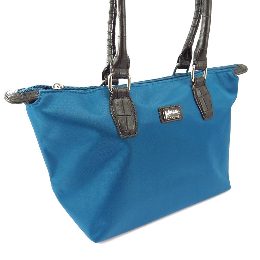 Cabas \'Lafayette\' bleu turquoise (S) - [K4322]