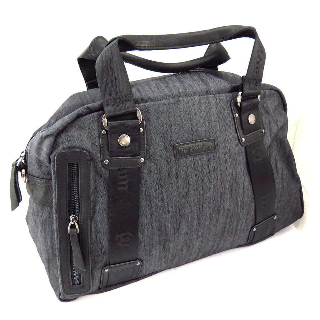Grand sac week end \'David William\' noir - [K4372]