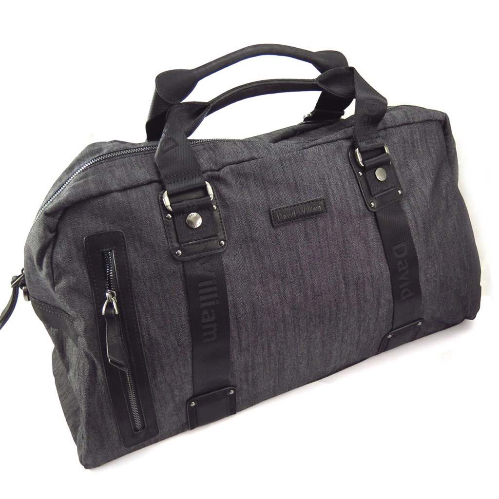 Grand sac week end \'David William\' noir - [K4373]