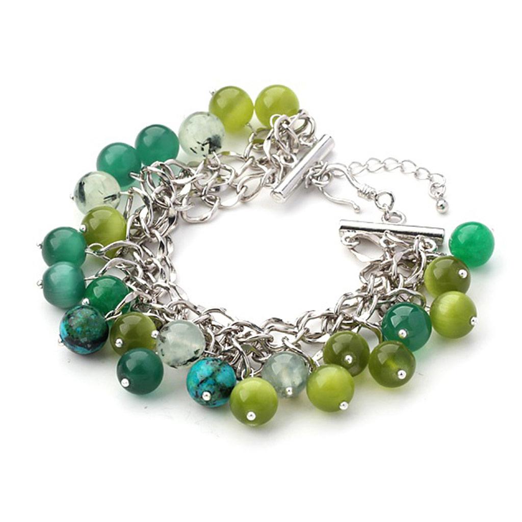 Bracelet \'Minéralia\' vert - [K4413]