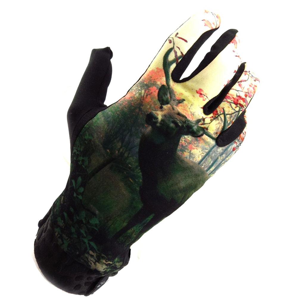 Gants créateur \'Bambi\' vert beige - [K5748]