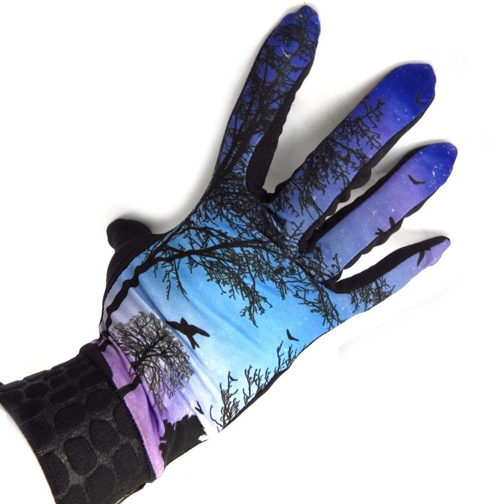 Gants créateur \'Aube\' bleu violet - [K5752]