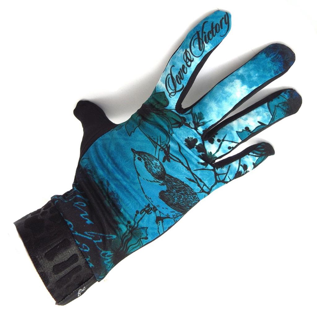 Gants créateur \'Blue Bird\' turquoise - [K5772]