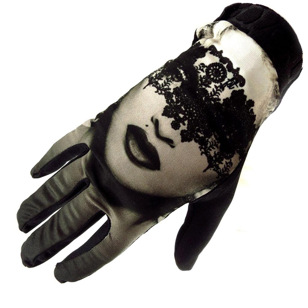 Gants créateur \'Erotica\' noir dentelle - [K5774]
