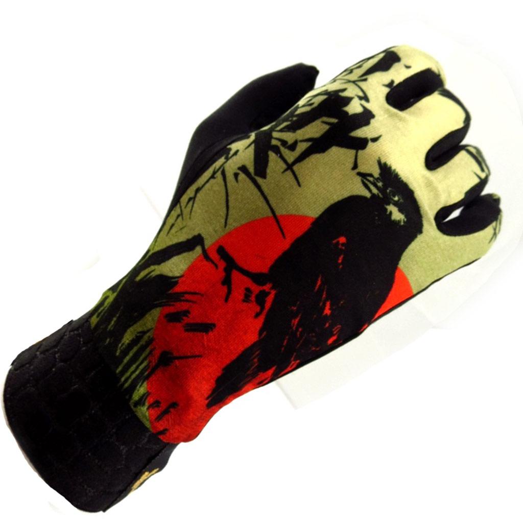Gants créateur \'Japon\' kaki rouge - [K5791]