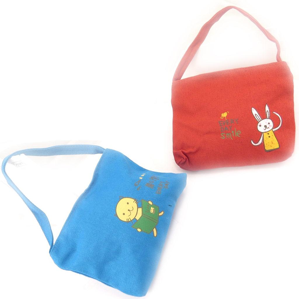 2 sacs enfant \'Petit Lily\' bleu rouge - [K8408]