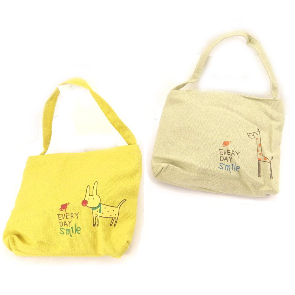 2 sacs enfant \'Petit Lily\' jaune beige - [K8983]