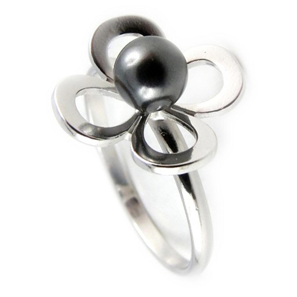 Bague \'Pearl Beauty\' gris  - [K9386]