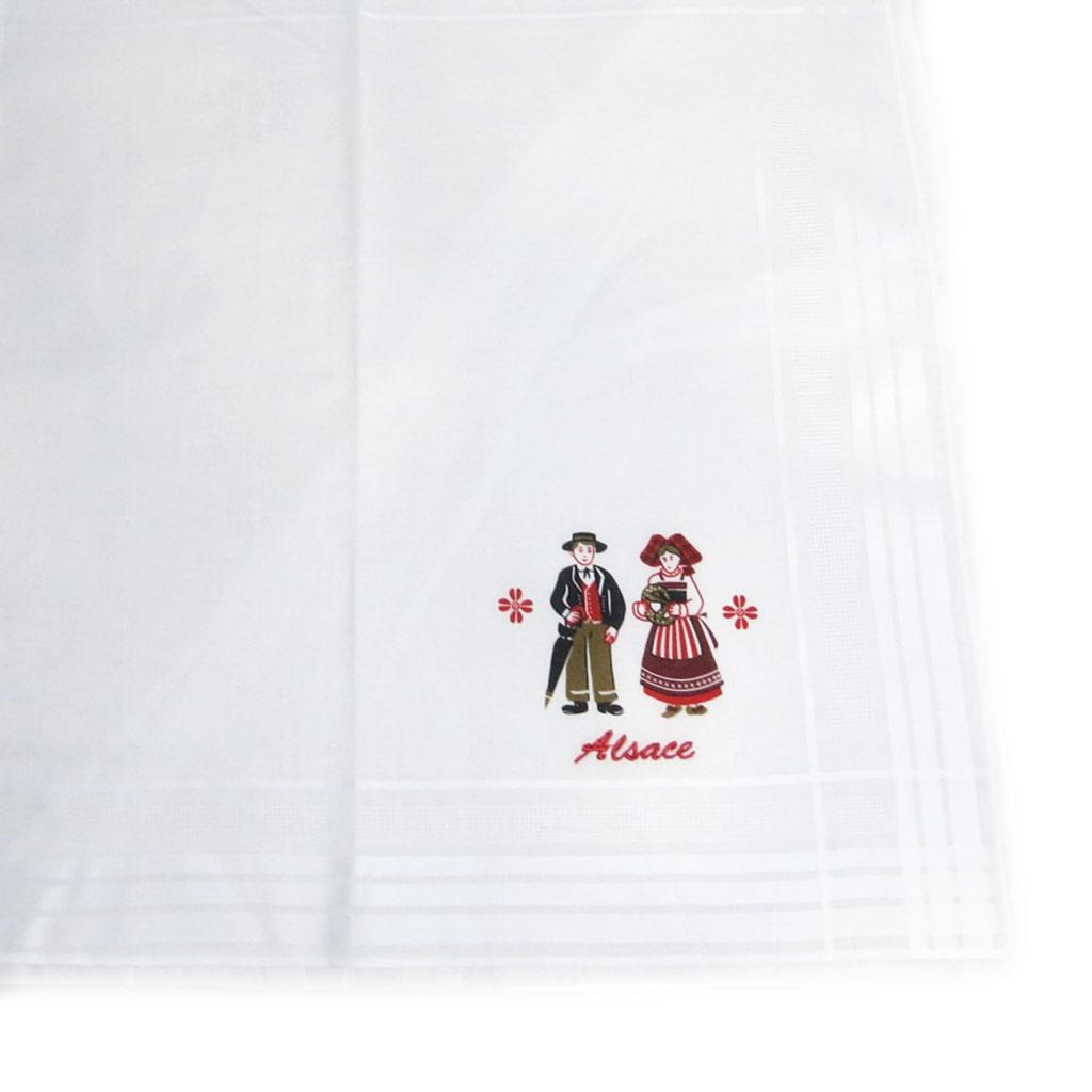 Mouchoir de poche \'Alsace\' blanc - [L1250]