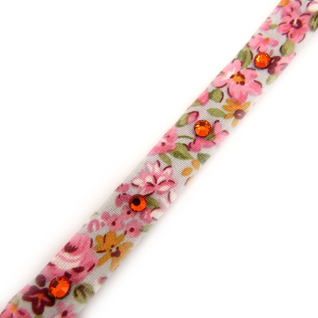 Bracelet \'Liberty\' rose strass - [L1562]