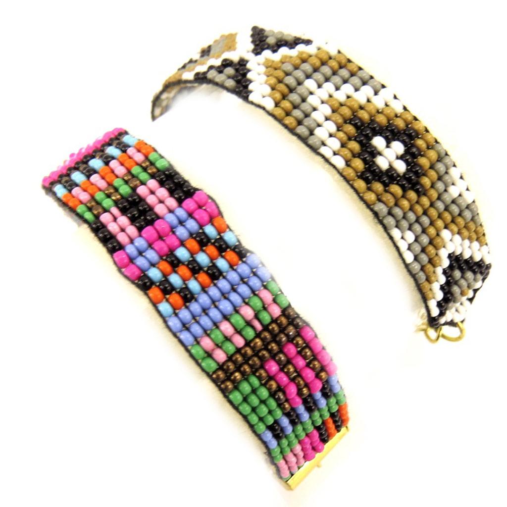 2 bracelets ethniques \'Katmandou\' tutti frutti - [L1604]
