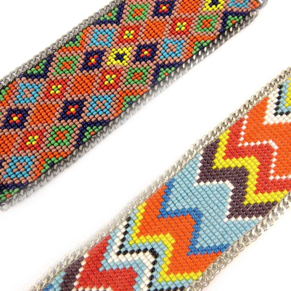2 bracelets ethniques \'Katmandou\' tutti frutti - [L1605]