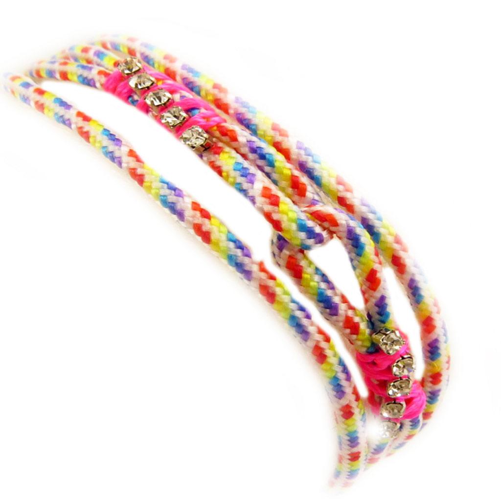 Bracelet fantaisie \'Kilimanjaro\' blanc tutti frutti - [L5185]