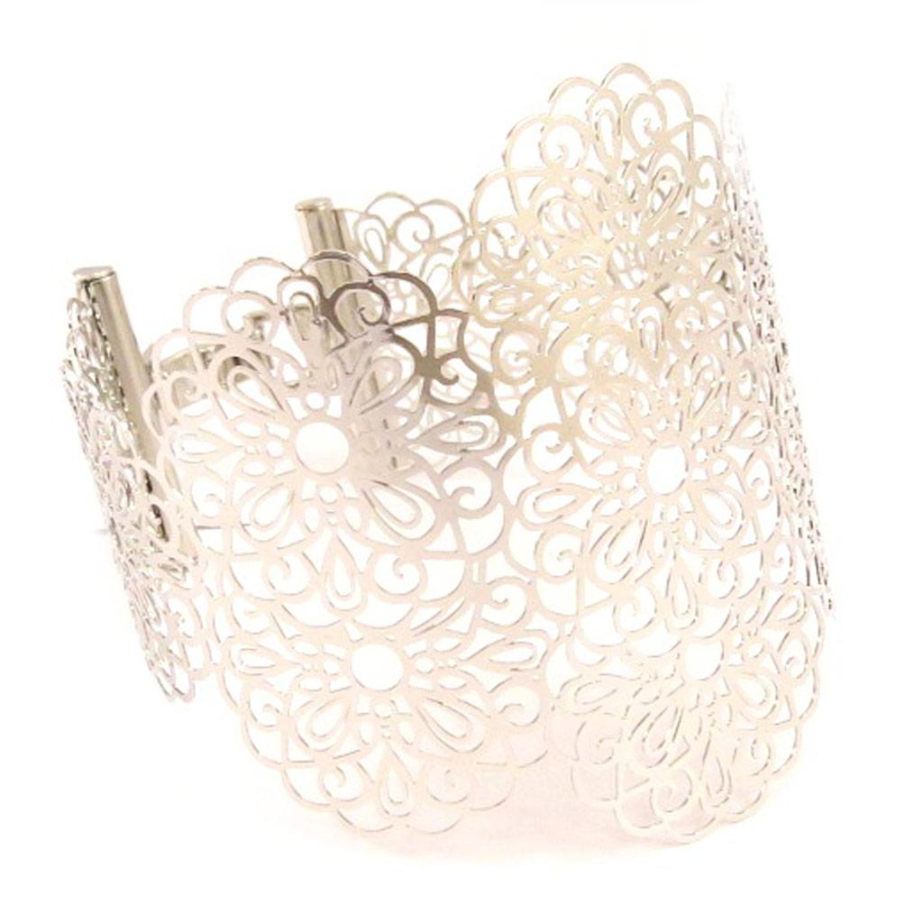 Bracelet \'Carmen\' argenté  - [L5274]