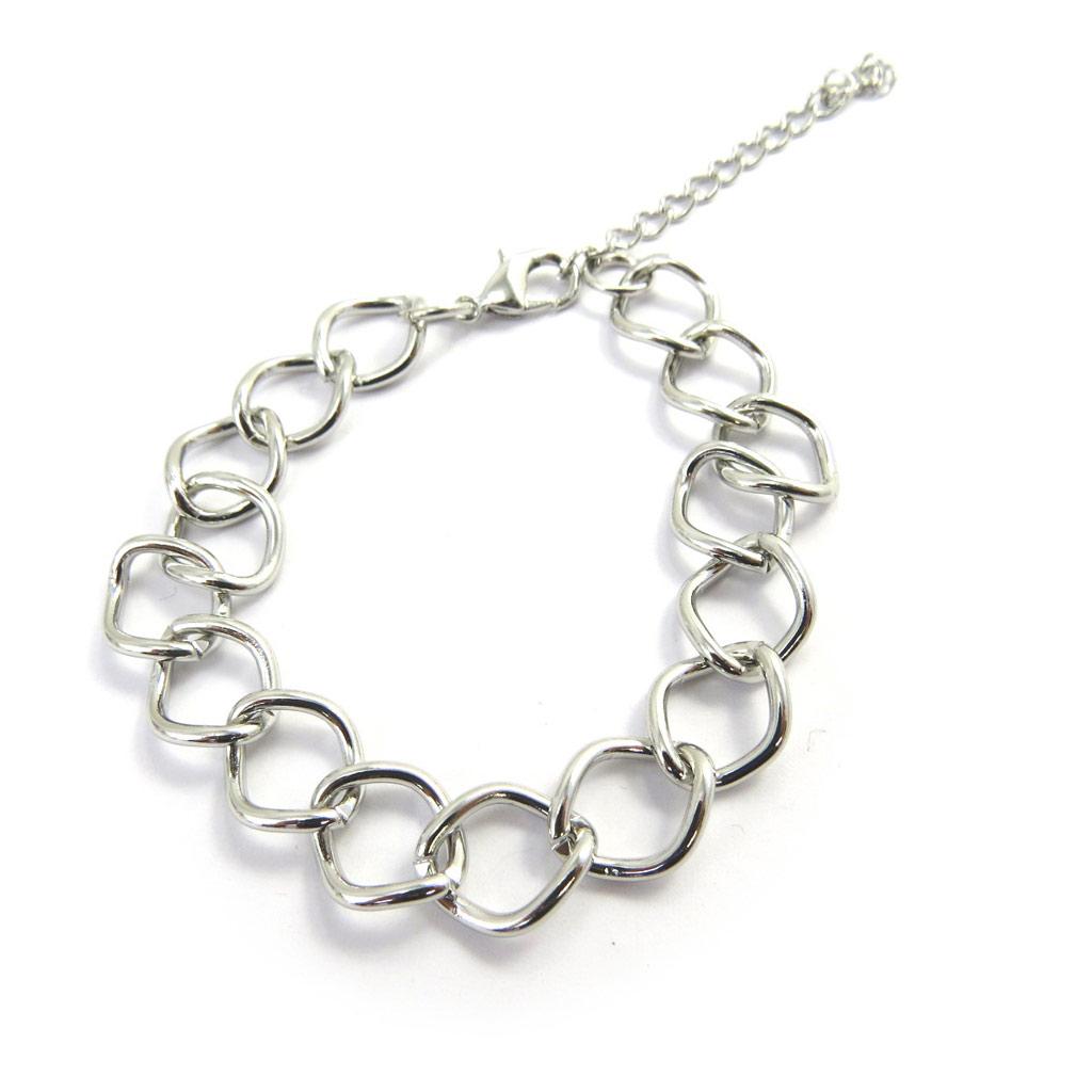 Bracelet \'Chorégraphie\' argenté  - [L7636]