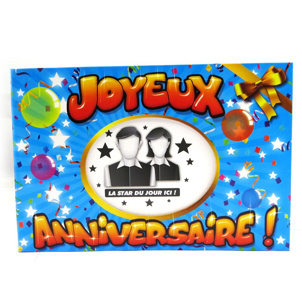 Album photos \'Joyeux Anniversaire !\' bleu - [L7703]