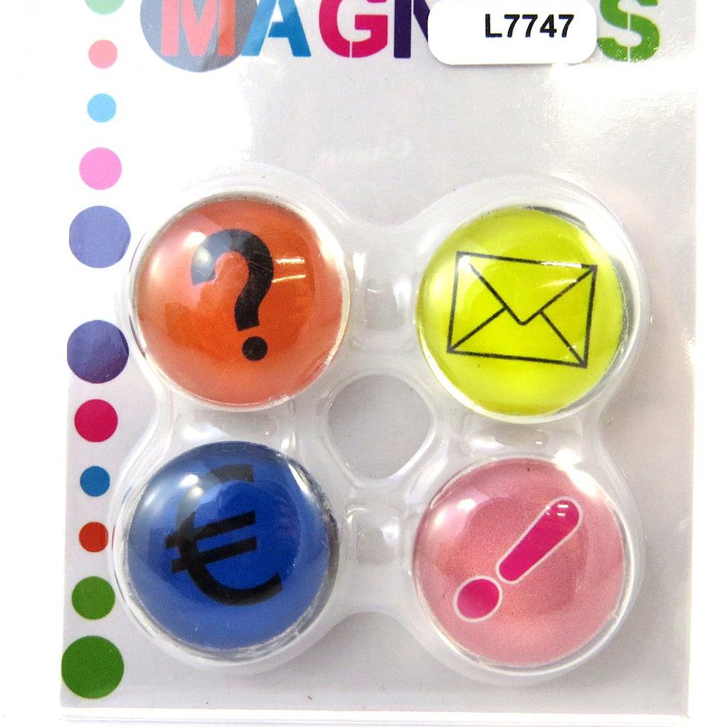 Set de 4 magnets \'Icônes\' multicolore - [L7747]