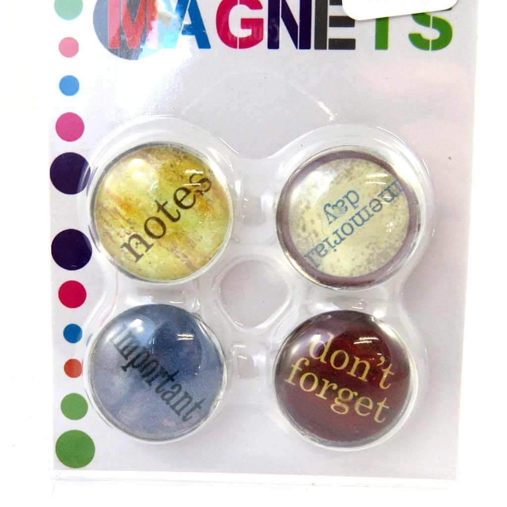 Set de 4 magnets \'To Do List\' multicolore - [L7749]