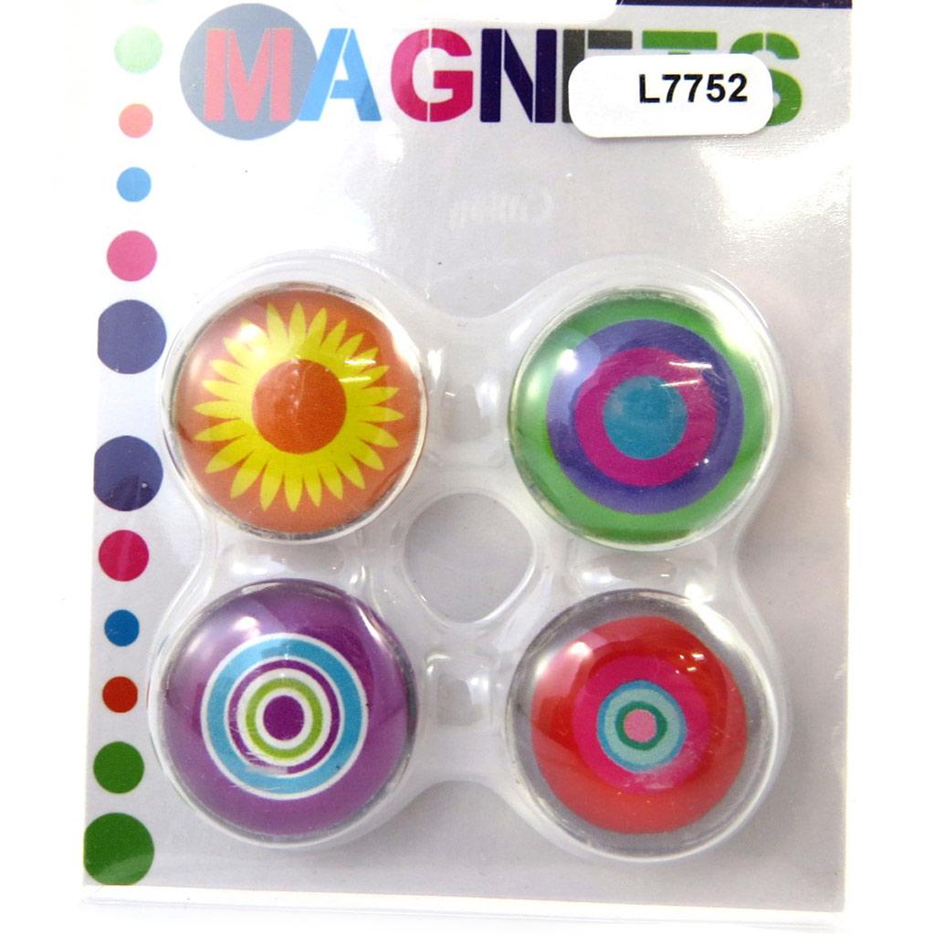 Set de 4 magnets \'Coloriage\' tutti frutti - [L7752]