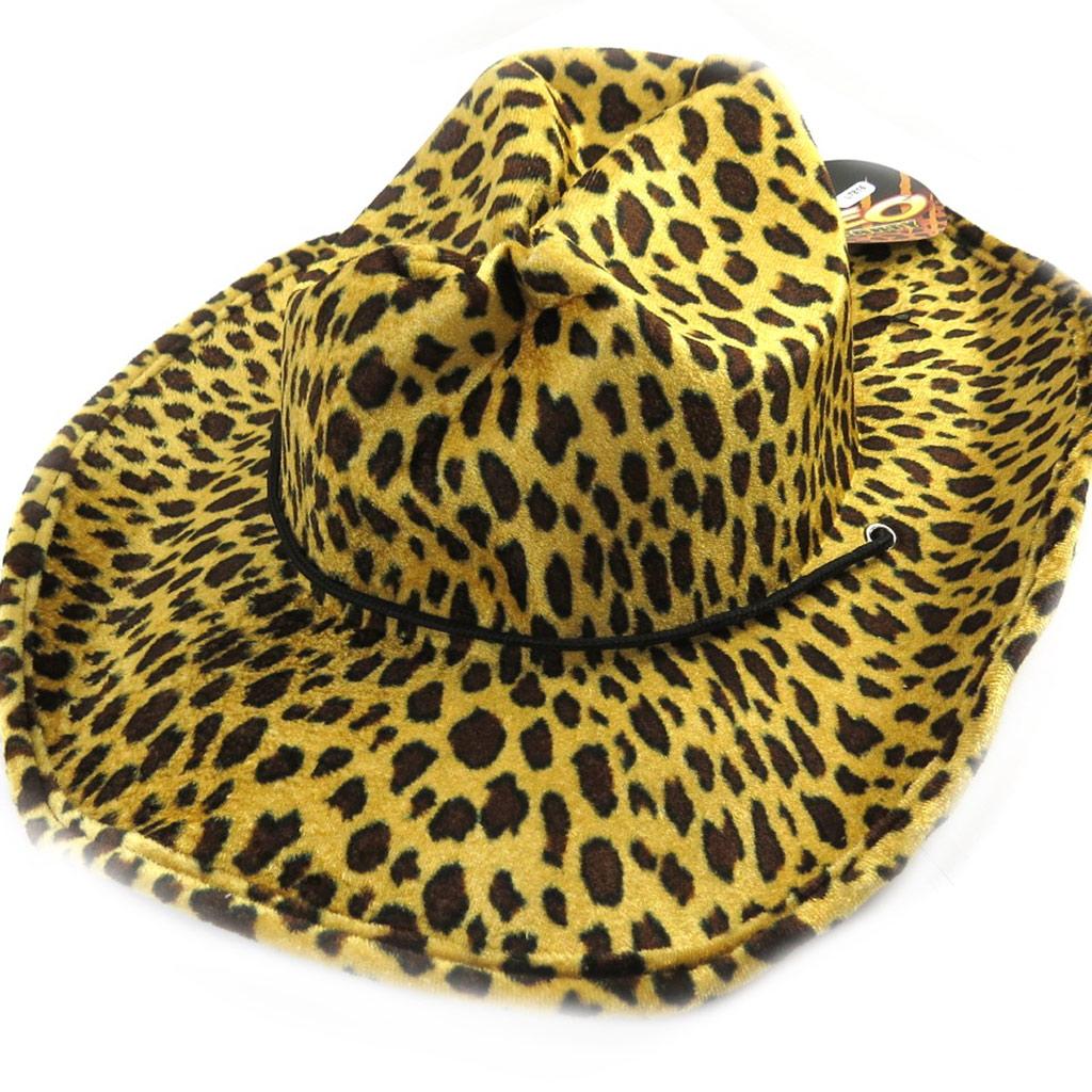 Chapeau créateur \'Cowboy\' léopard - [L7816]