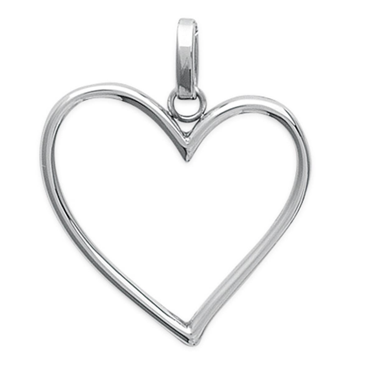 Pendentif acier \'Love\' argenté - 27x27 mm - [L7858]