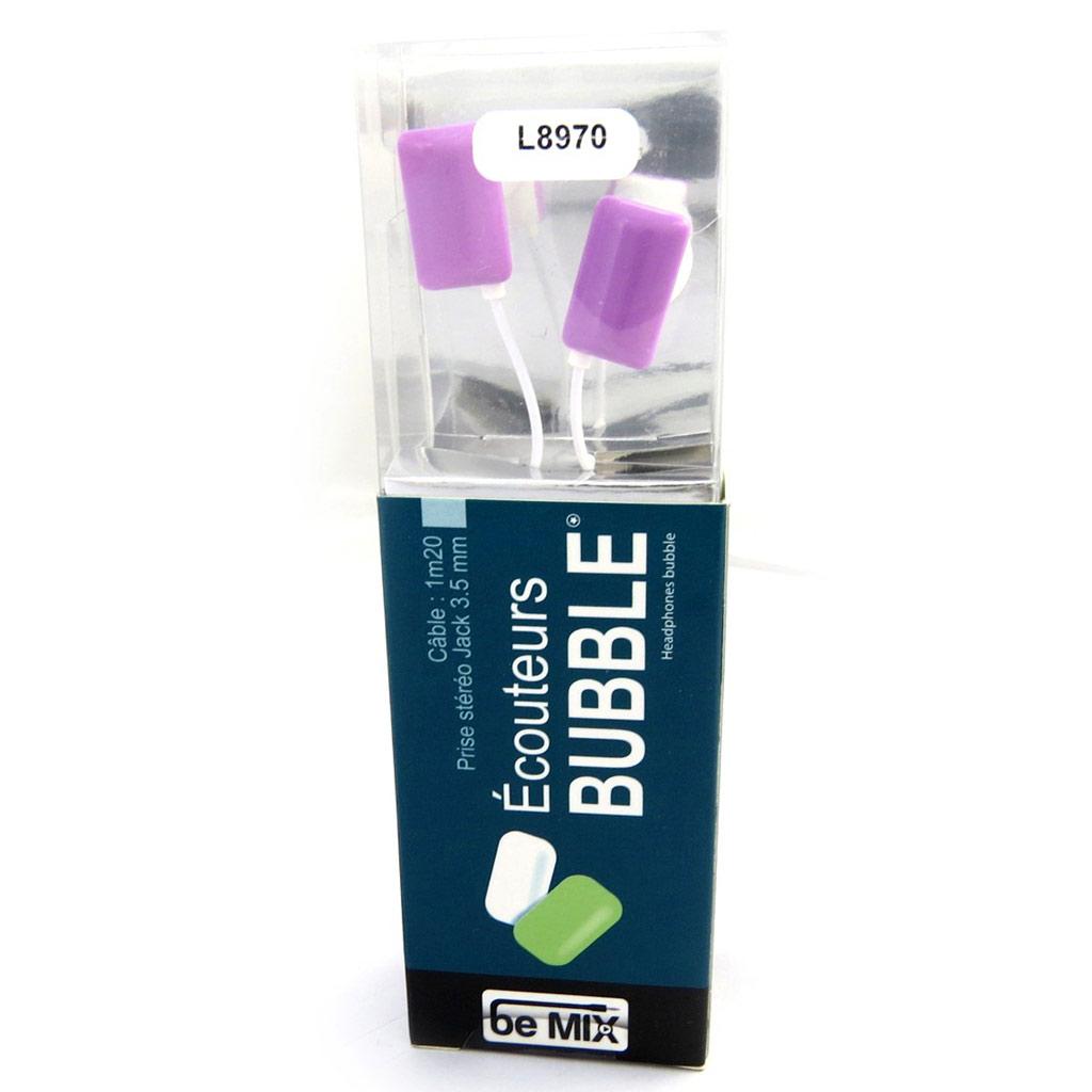 Ecouteurs \'Bubble\' violet (be mix) - [L8970]
