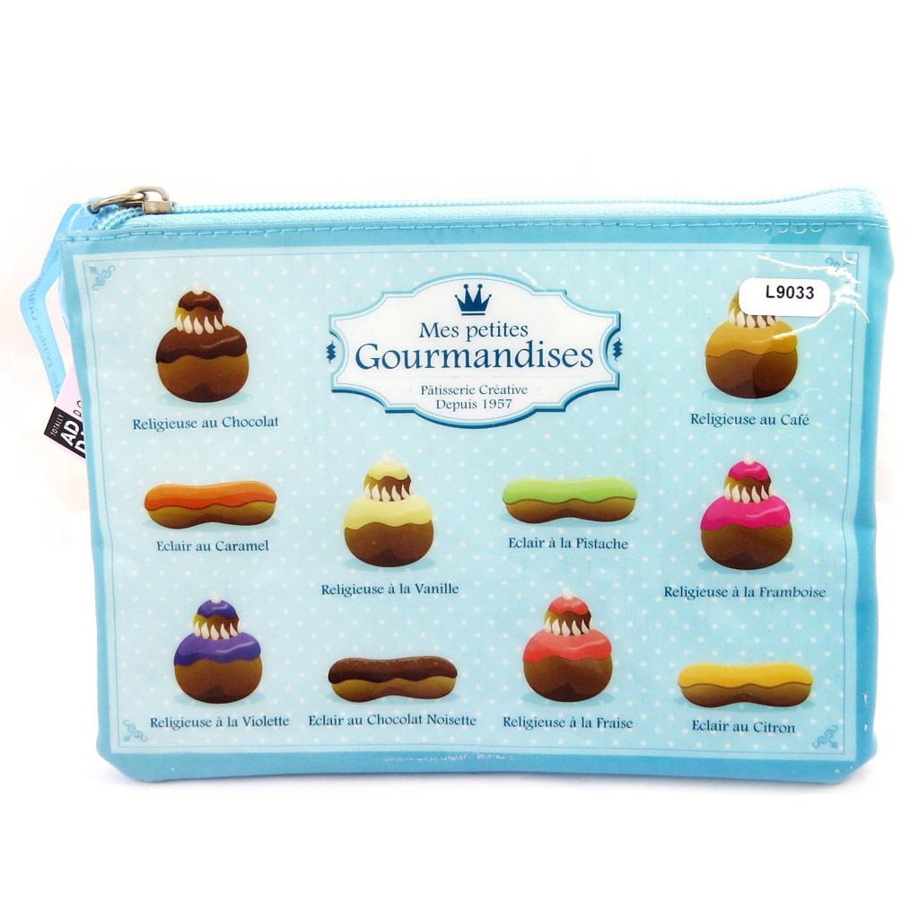 Pochette plate \'Mes Petites Gourmandises\' bleu - [L9033]