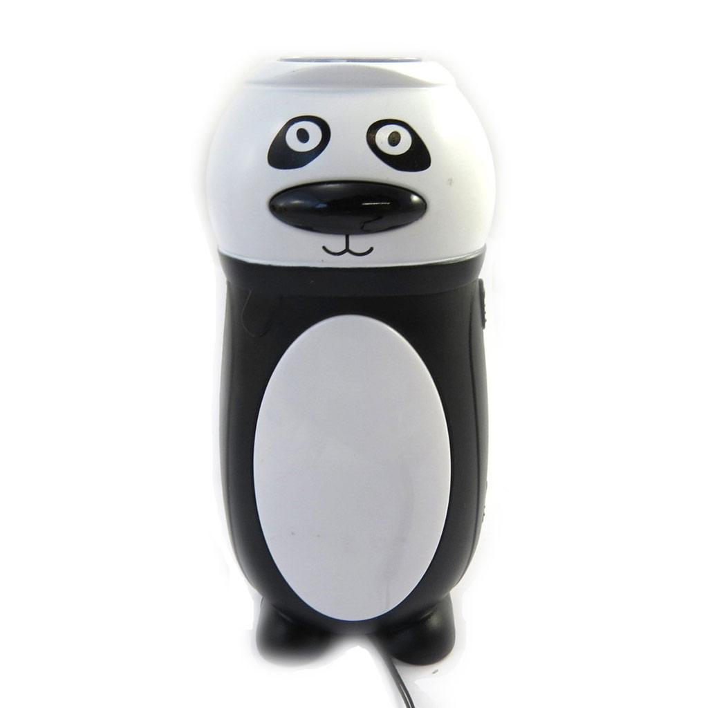 Lampe dynamo \'Les Animaux\' noir blanc (panda) - [L9080]