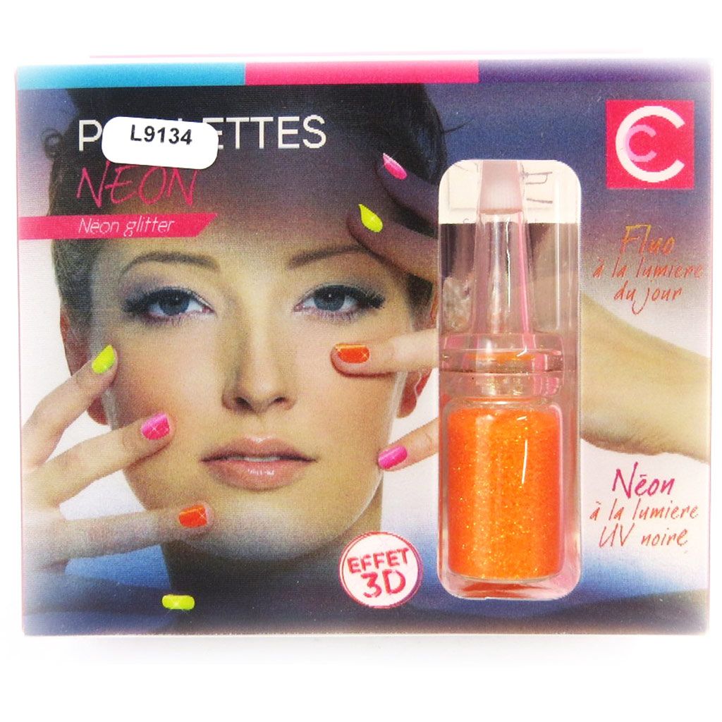 Déco néon ongles \'Coloriage\' orange fluo - [L9134]