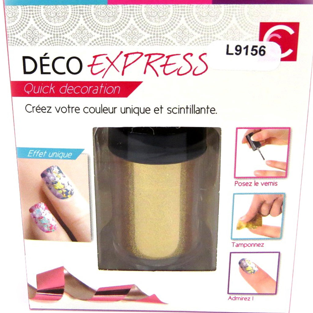 Déco express ongles \'Coloriage\' doré - [L9156]