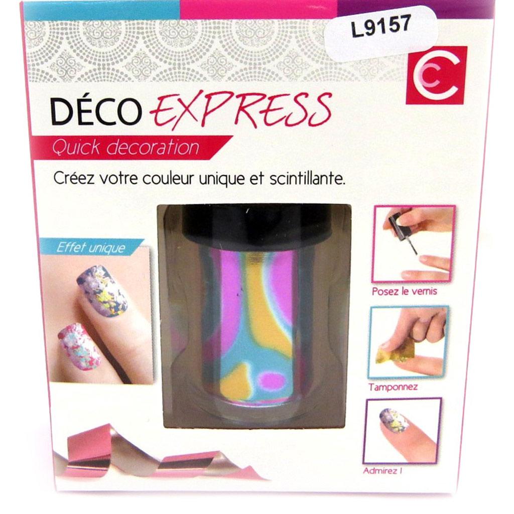 Déco express ongles \'Coloriage\' tutti frutti métal - [L9157]