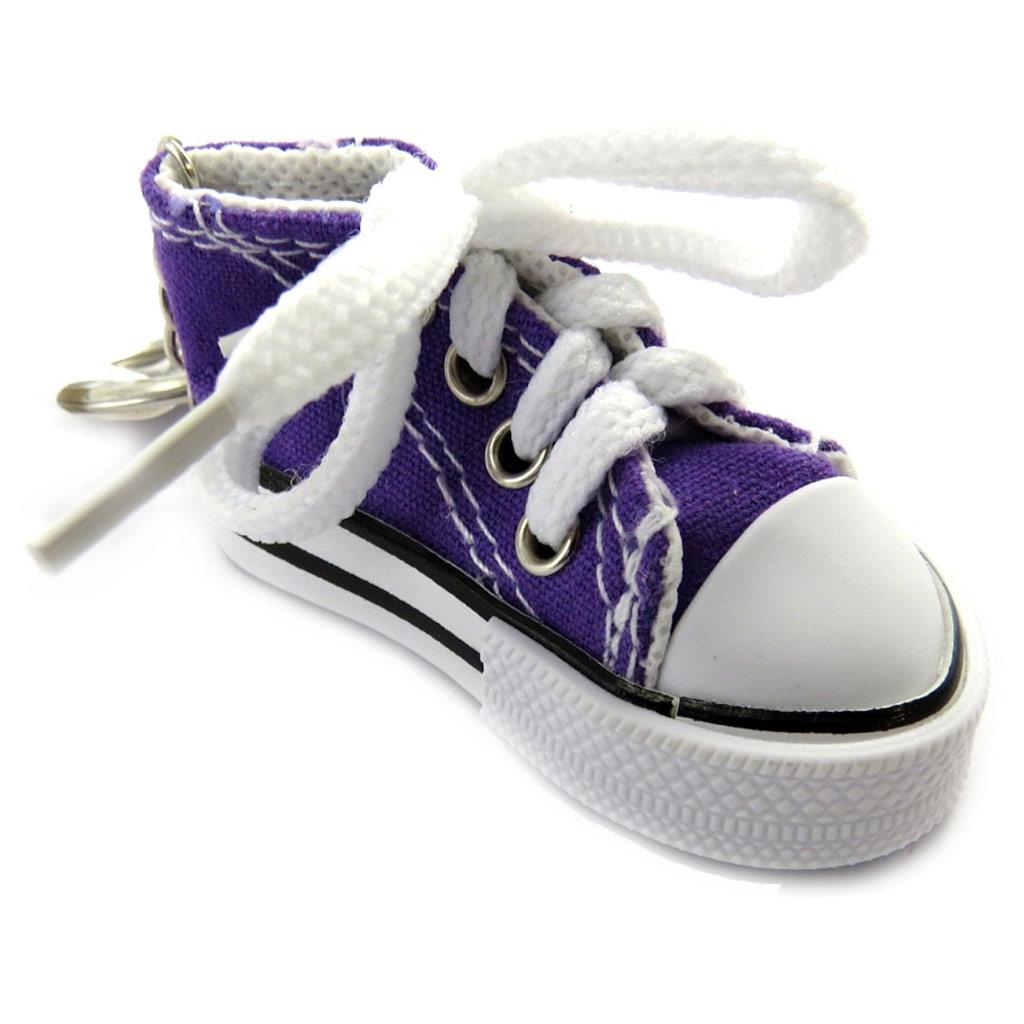 Porte-clés \'Chaussure de sport\' violet - [L9222]