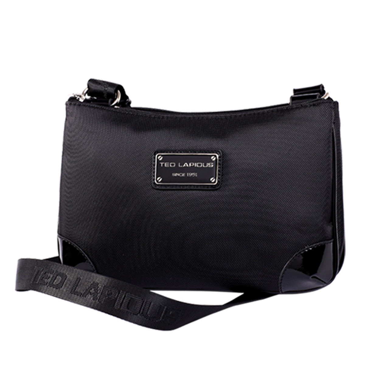 Pochette bandoulière \'Ted lapidus\' noir (2 compartiments) - 30x19x7 cm - [M0195]
