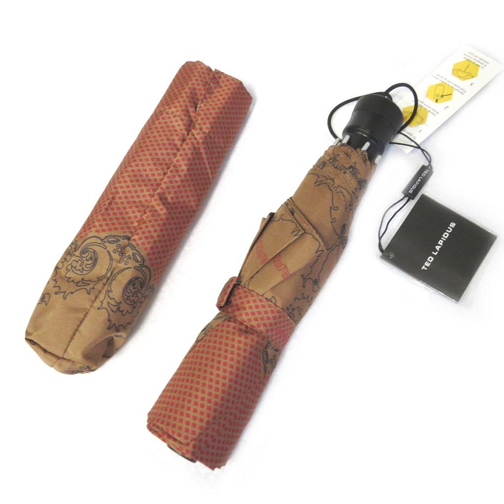 Parapluie automatique \'Ted Lapidus\' rouge marron - [M0272]
