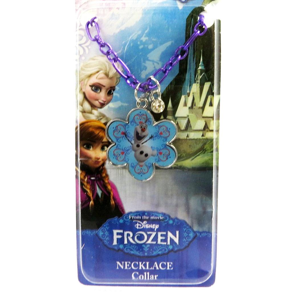 Collier créateur \'Frozen - Reine des Neiges\'  bleu (Olaf) - [M1035]