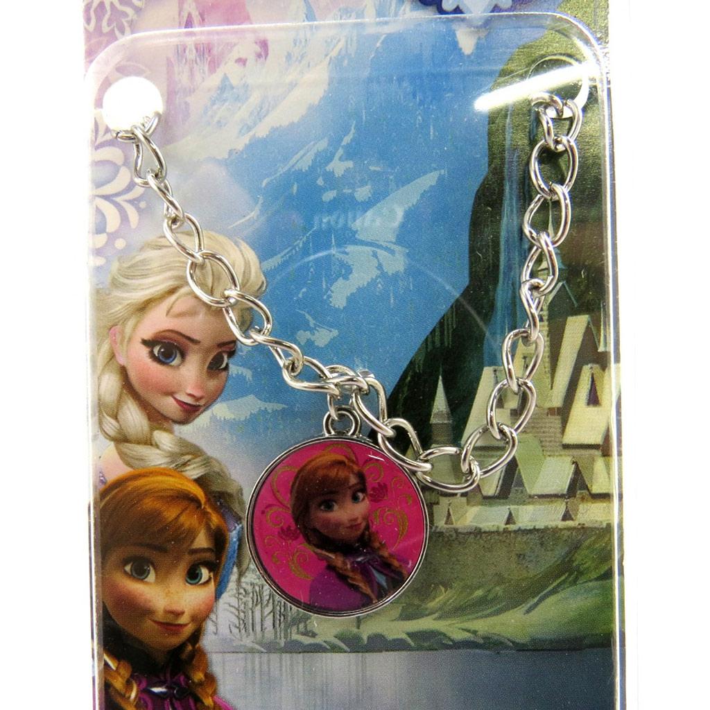 Bracelet créateur \'Frozen - Reine des Neiges\'  rose (Anna) - [M1037]