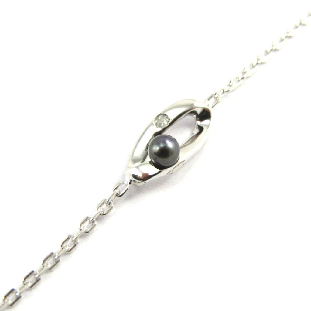 Bracelet Argent \'Pearl Beauty\' Gris Argenté - [M1129]