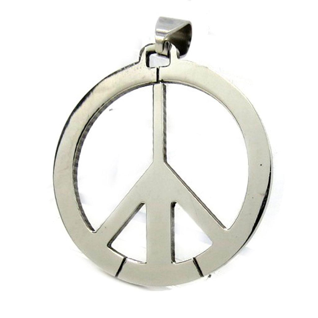 Pendentif acier \'Peace\'  - [M1831]