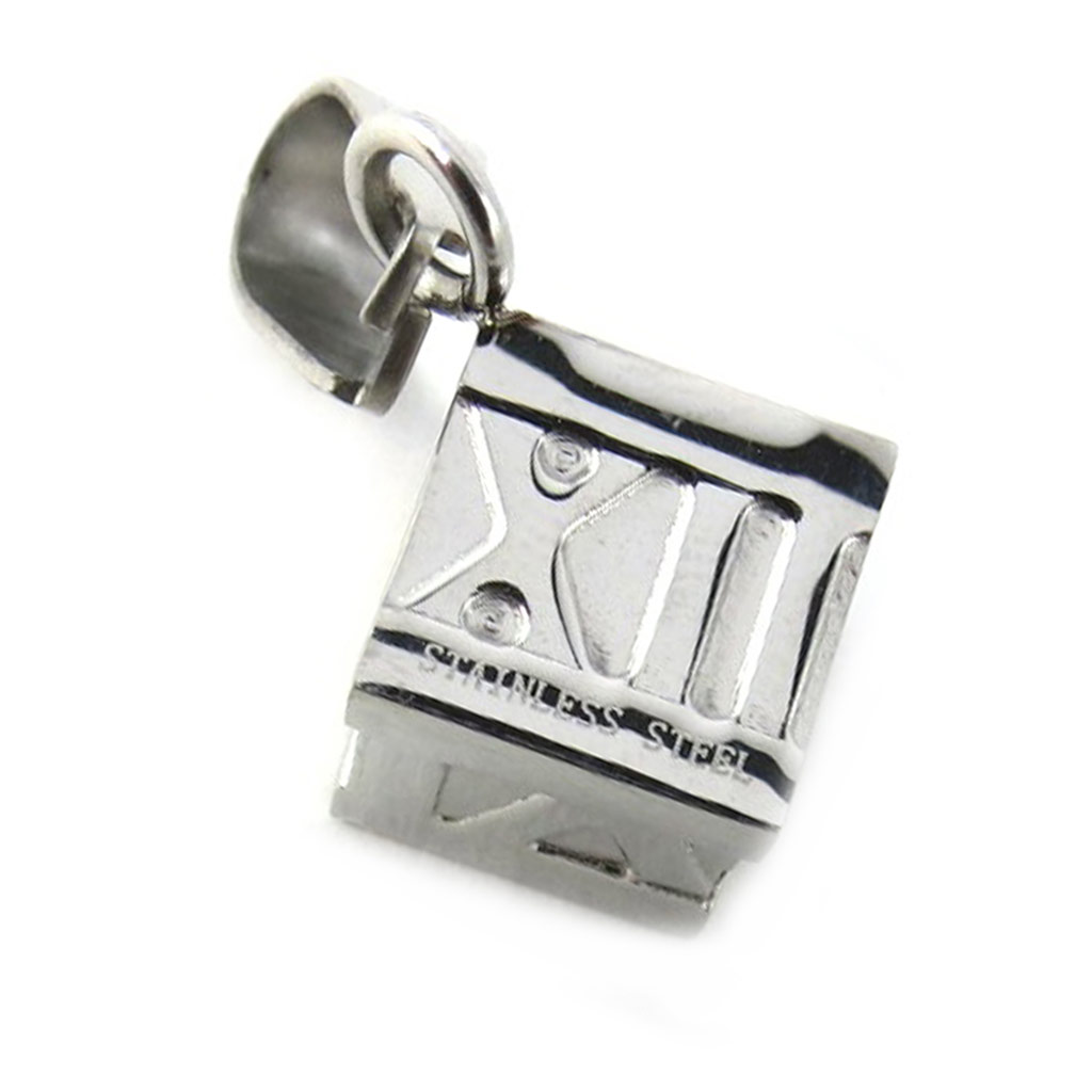 Pendentif acier \'Dés\'  - [M1836]