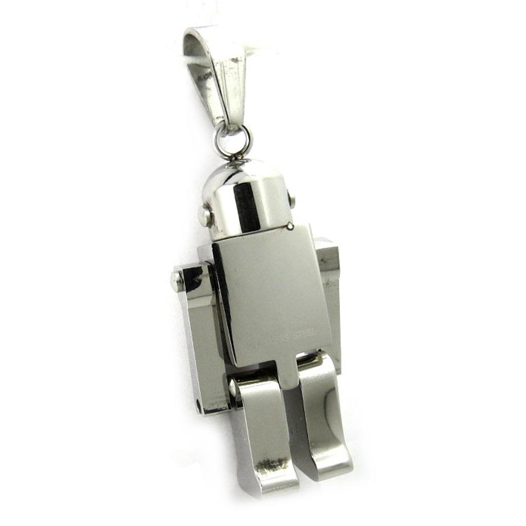 Pendentif acier \'Robot Articulé\'  - [M1839]