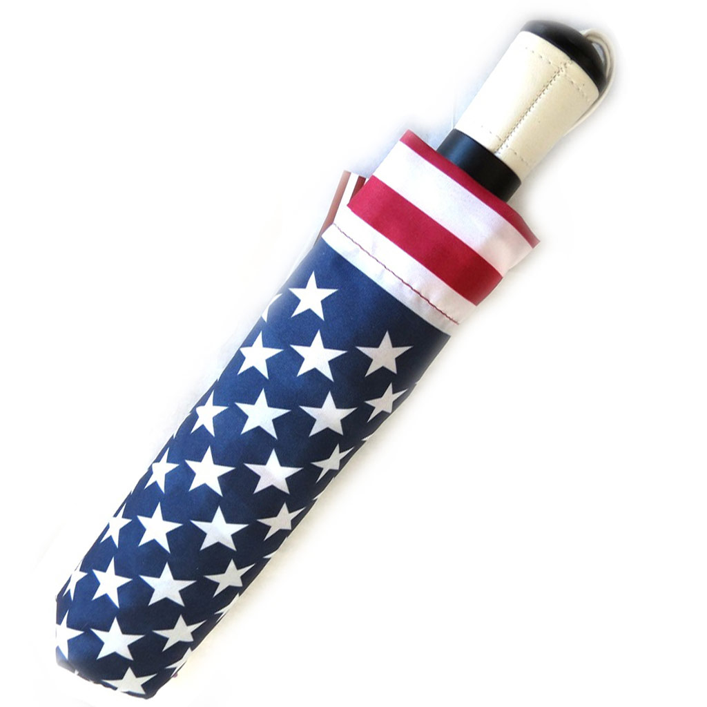 Parapluie automatique Neyrat \'America\' bleu rouge (24 cm) - [M2633]