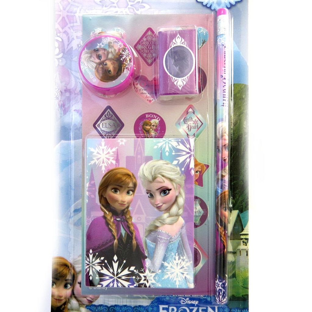 Set papeterie \'Frozen - Reine des Neiges\' rose (4 pièces) - [M3049]