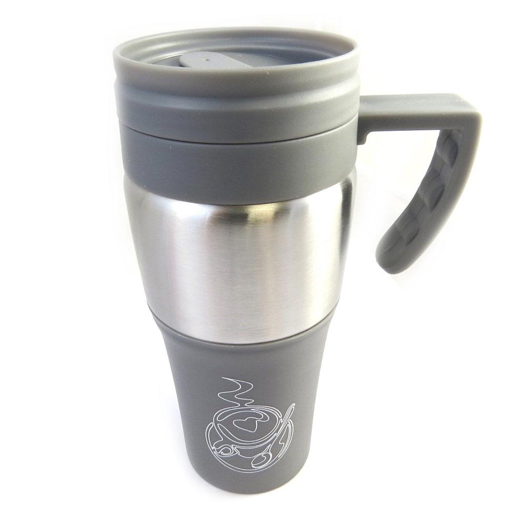 Mug de transport \'Design\' gris - [M3930]